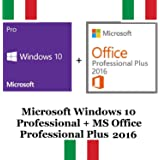 MICROSOFT WINDOWS 10 PRO + OFFICE PROFESSIONAL PLUS 2016 32/64 BIT KEY CHIAVE LICENZA ITA