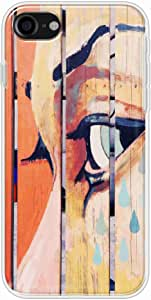 Okteq Clear TPU Protection and Hybrid Rigid Clear Back Cover Compatible with Apple Iphone 7 - paint eye By Okteq