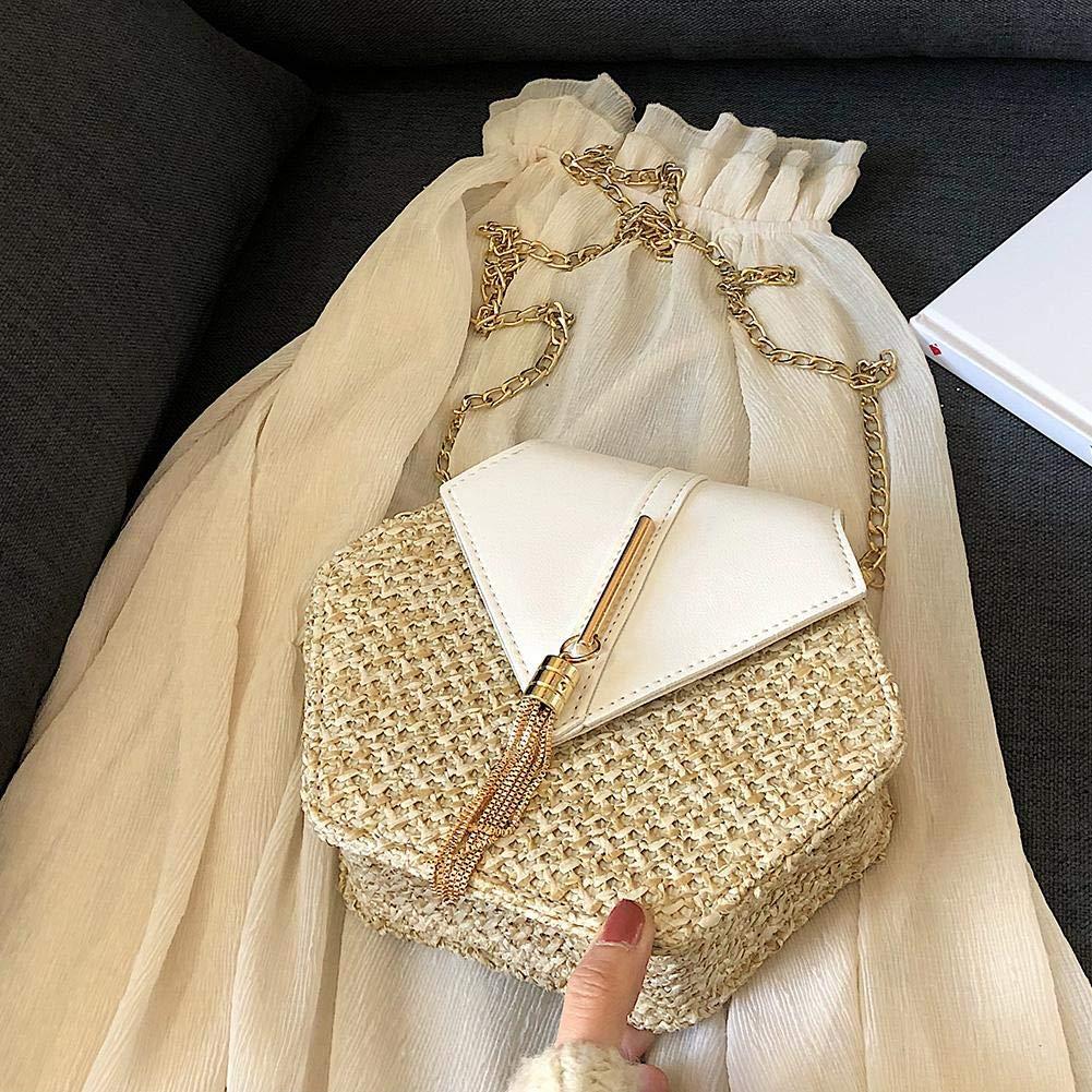 AFFEco Sacs /à Main /à Petite /épaule en PU de Forme hexagonale et /à bandouli/ère en PU pour Femme
