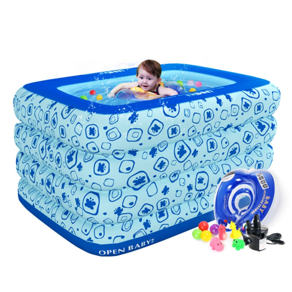 Aufblasbare gepolstert isolierte Baby Schwimmbad/Baby Planschbecken für Kinder/Extra große quadratische Swimming Pool/Familie-Baby-Pool-A