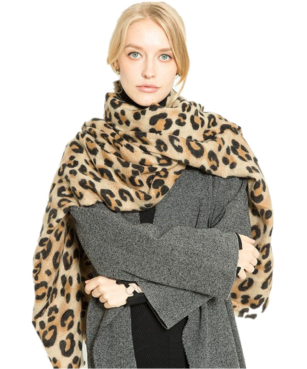 A King's store Fashion brand designer classic women's scarf and leopard print design of a warm winter cape more than 175 cm.