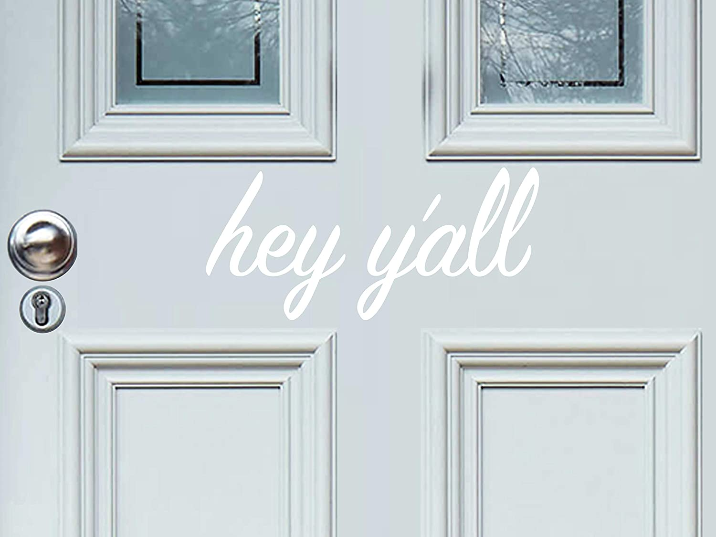 Story of Home LLC Hey Y'All Door Decal Hey Y'All Decal Hello Door Decal Hello Decal for Front DoorHello Vinyl Door DecalFront Door Decal