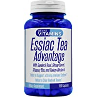 Essiac Tea Advantage 180 Capsules 900mg (Non GMO & Gluten Free) Herbal Supplement and Immune Booster with Essiac Tea Capsules