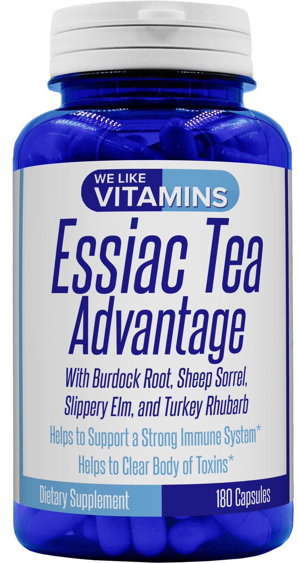 Essiac Tea Advantage 180 Capsules 900mg Best Value Herbal Supplement and Immune Booster with Essiac Tea Capsules