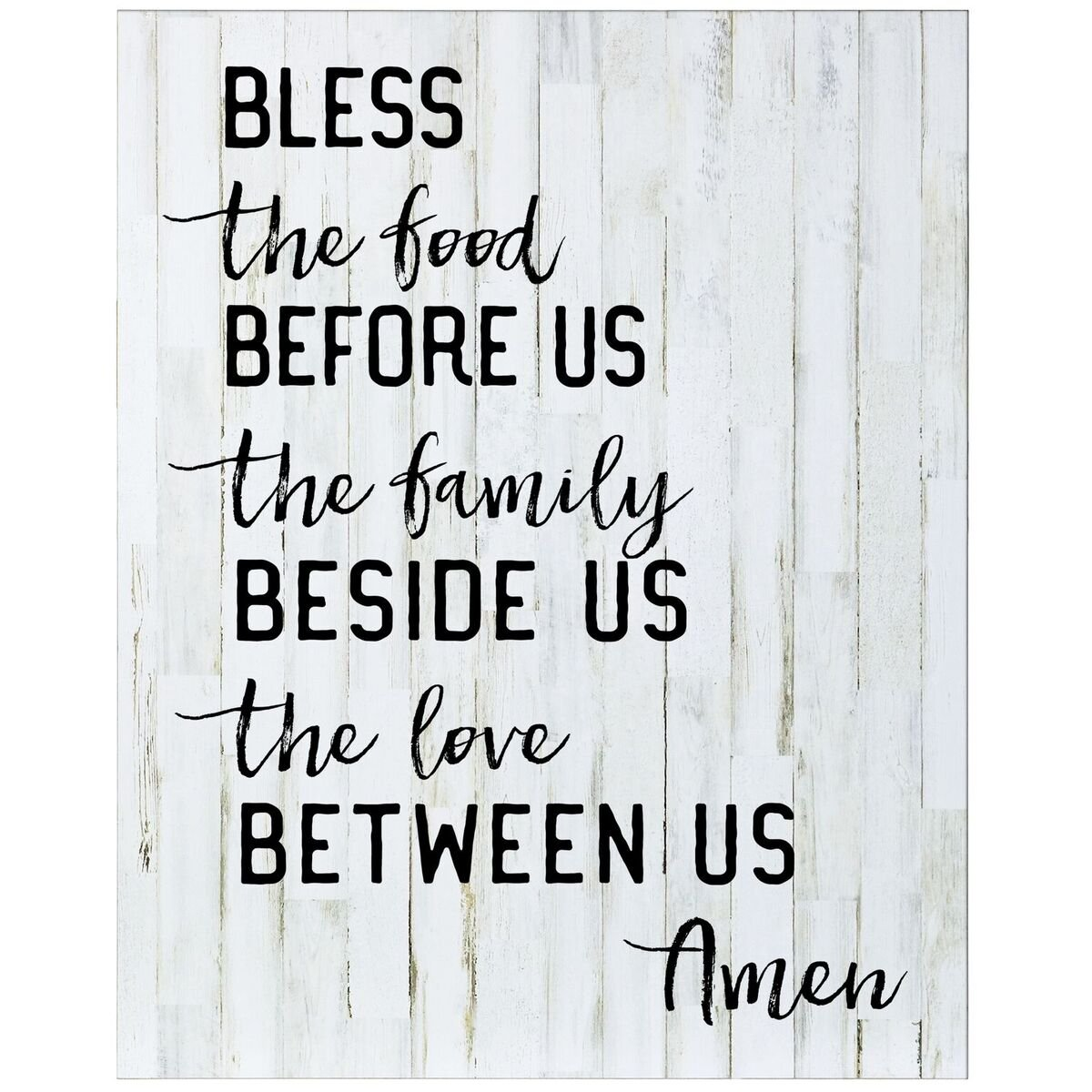 Bless the food before Us Wall art decor print Sign for livingroom entryway kitchen bedroom By Dayspring Milestones (Bless the food) by Dayspring