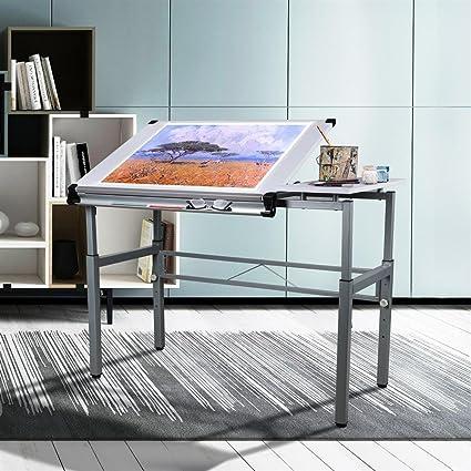 Adjustable Height Craft Table.Amazon Com Yaheetech Height Adjustable Multifunctional