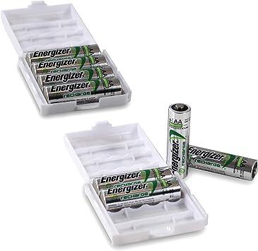 Energizer - Pilas AA Power Plus en una práctica caja de pilas de Weiss: Amazon.es: Electrónica