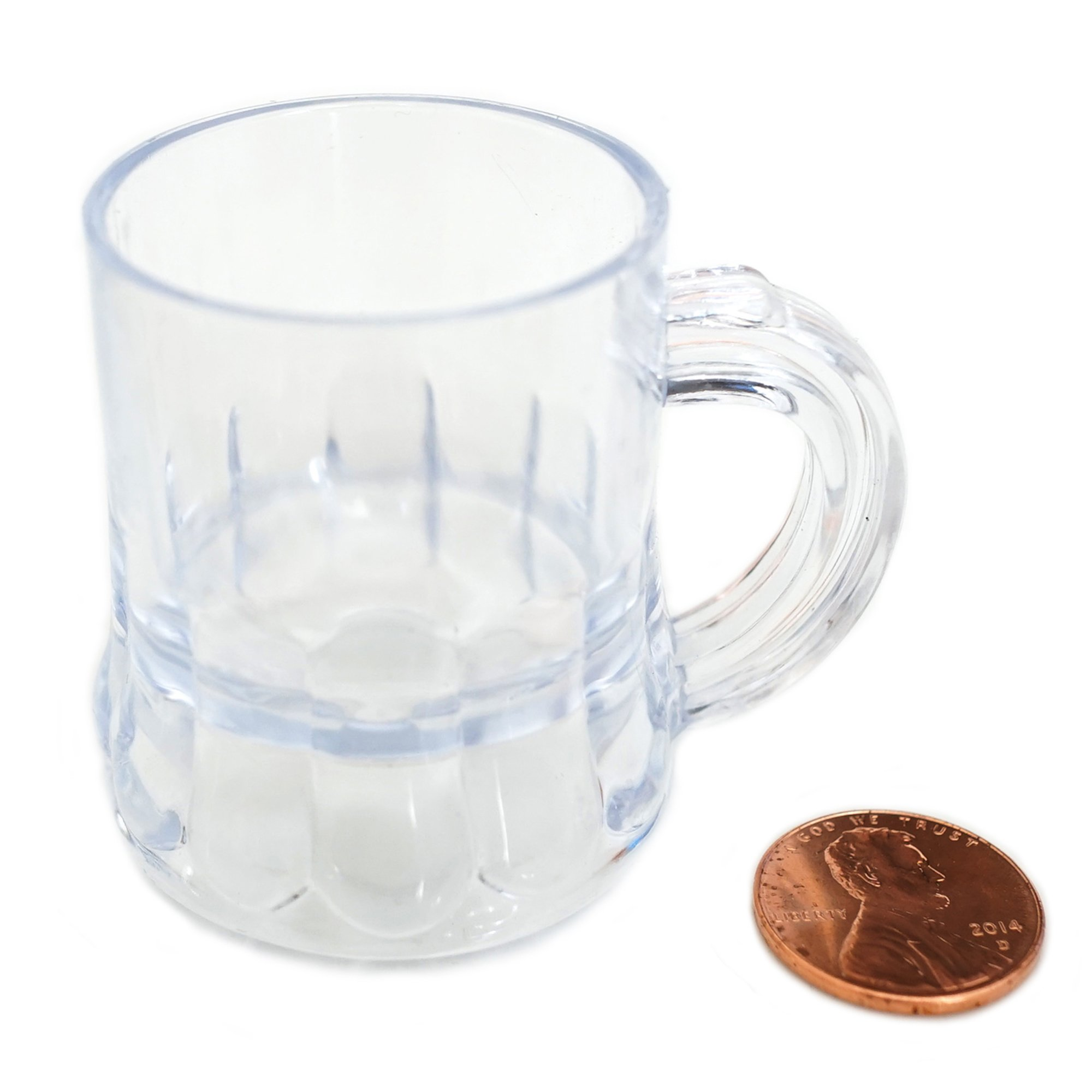 Mini Clear Plastic Beer Mug Shot Glasses- 1.75'' Tall (72 Count) by New Paradise (Image #2)