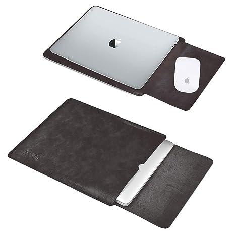 Tecool 13 Pulgadas Funda Portátil, Funda de Cuero Protectora Bolsa Ordenador Laptop Sleeve para MacBook