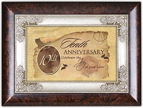 Tenth Anniversary Cottage Garden Italian Inspired Music Box Plays Unchained Melody