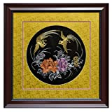 ChinaFurnitureOnline Double Phoenix Silk Embroidery Frame, Multicolor