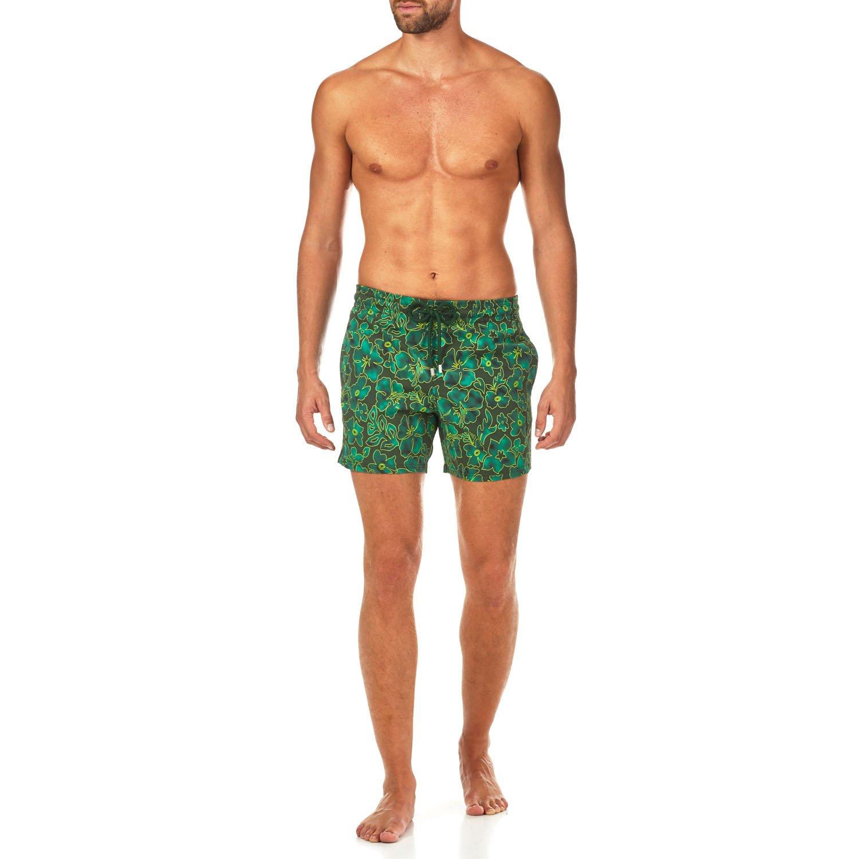 Vilebrequin Natural Flowers Superflex Superflex Swim shorts - Men - olive - L