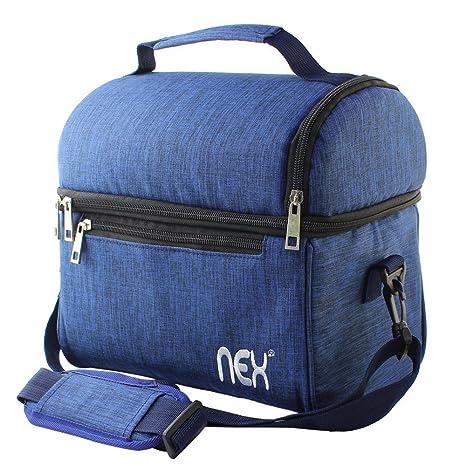 Amazon.com: NEX Bolsa de almuerzo tela Double Decker Cooler ...