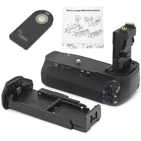 Abrazadera de Batería + Control Remoto IR + Sujetador de Batería AA para Cámara DSLR Canon