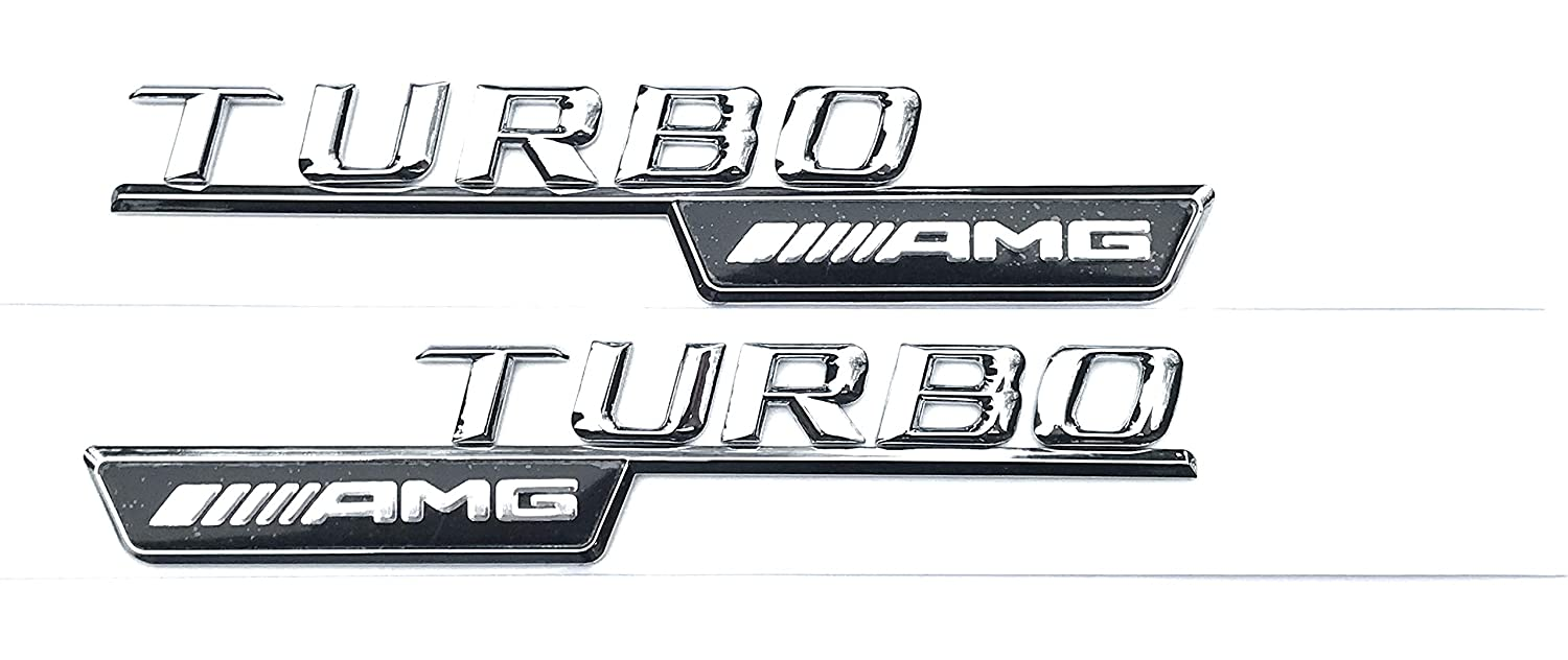 AMG Turbo Wing Badge Logo A45 CLA 45 C63 E63 ML55 ML63