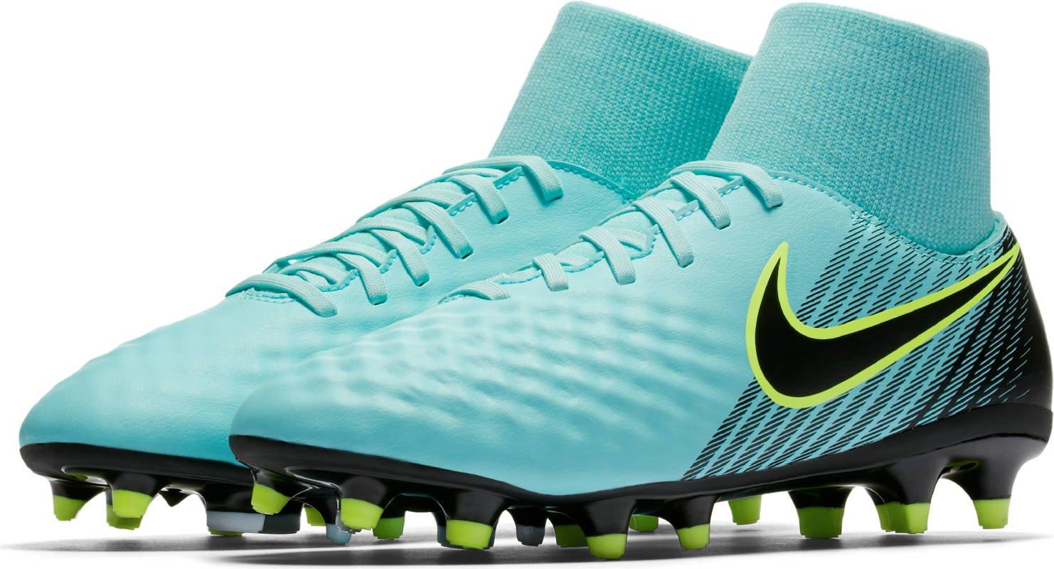 Nike Women's Magista Onda II Dynamic Fit FG Soccer Cleats (9 B(M) US, Light Aqua/Igloo/Volt/Black)