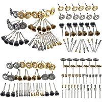 Niome Golden Silver Steel Wire Brush Polishing Wheels Set DIY for Rotary Tool Drill Bit 36PCS