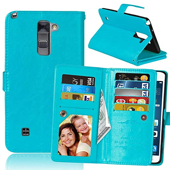 new arrive fc4b3 f4a3b LG G Stylo 2 Case, SUMOON Luxury Fashion PU Leather Magnet Wallet Credit  Card Holder Flip Case Cover with Built-in 9 Card Slots & Stand For LG G  Stylo ...