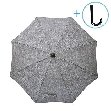 Luchild Sombrilla Carrito Bebe Universal Paraguas Carrito Bebe Diámetro 73cm Anti Rayos UV con Un Mango