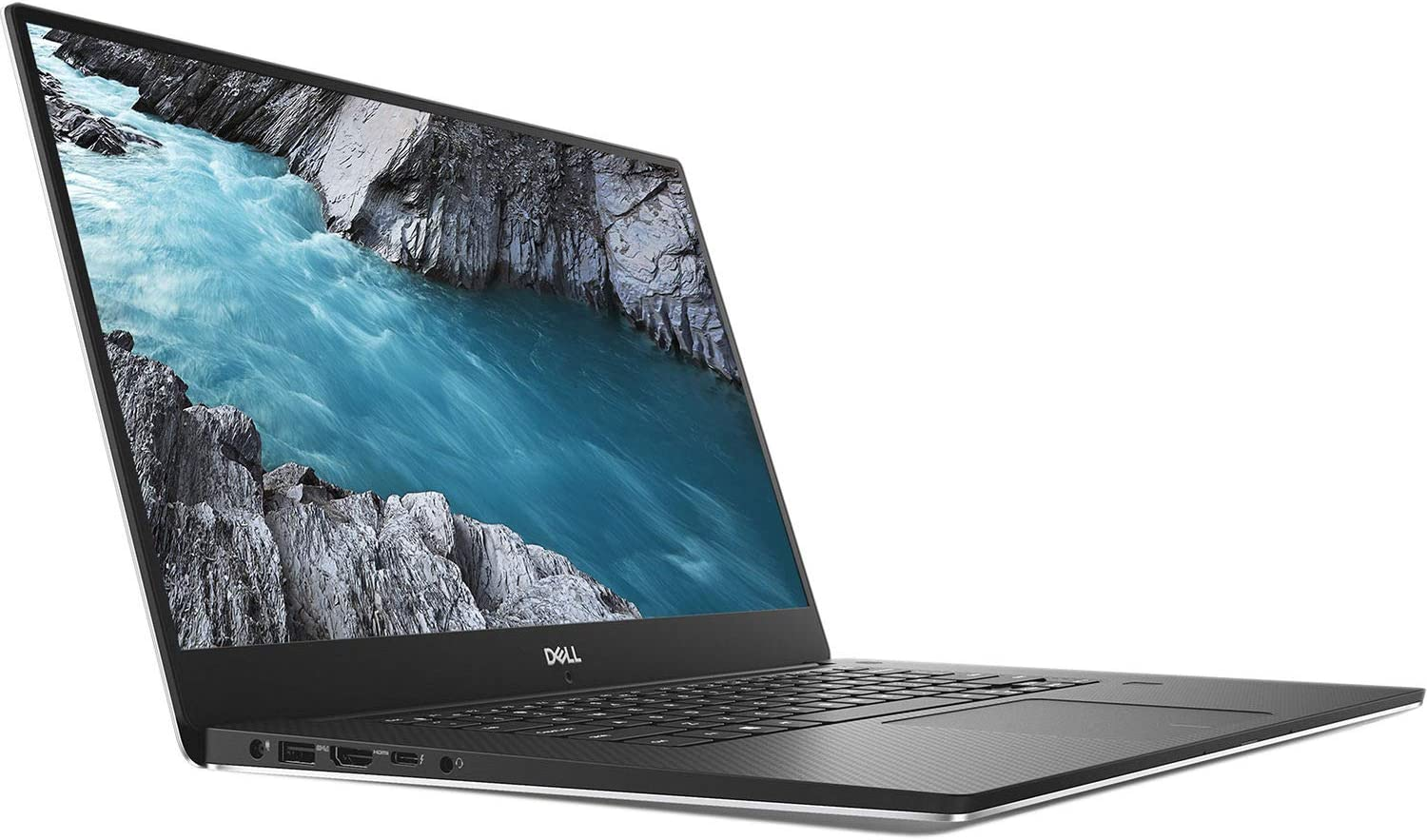 "Dell XPS 7590 15.6"" 4K Ultra HD Laptop - 9th Gen Intel Core i7-9750H up to 4.50 GHz Processor, 32GB DDR4 Memory, 4TB PCIe Solid State Drive, NVIDIA GeForce GTX 1650 GPU, Windows 10 Pro, Silver"