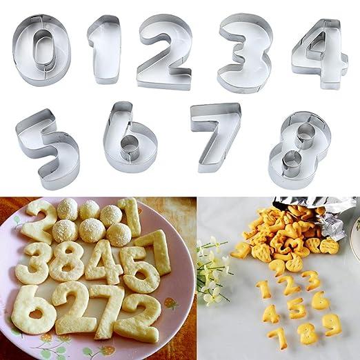 botrong reutilizable numérico símbolos galletas Cookie Cutter ...