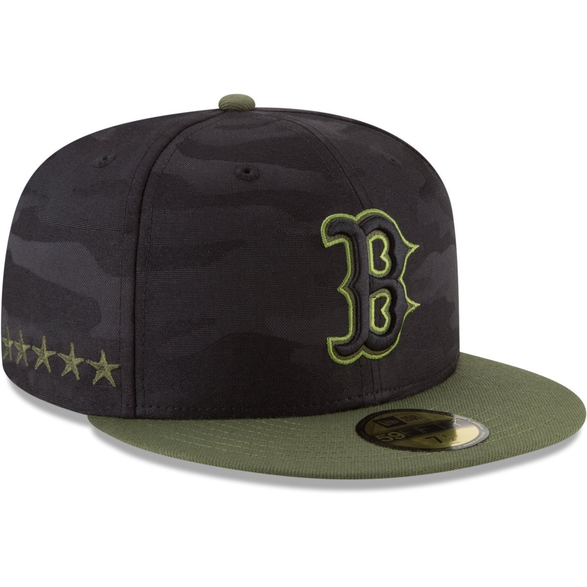 7b349eca4 Amazon.com: New Era Boston Black | Green Sox Memorial Day Fitted Cap  59fifty Basecap Limited Special Edition: Clothing