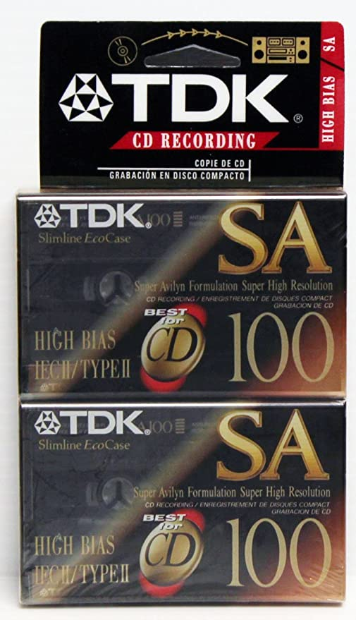 Amazon.com: TDK SA100 High Bias IECII/TYPEII 2 pack Cassette Tapes: Home Audio & Theater