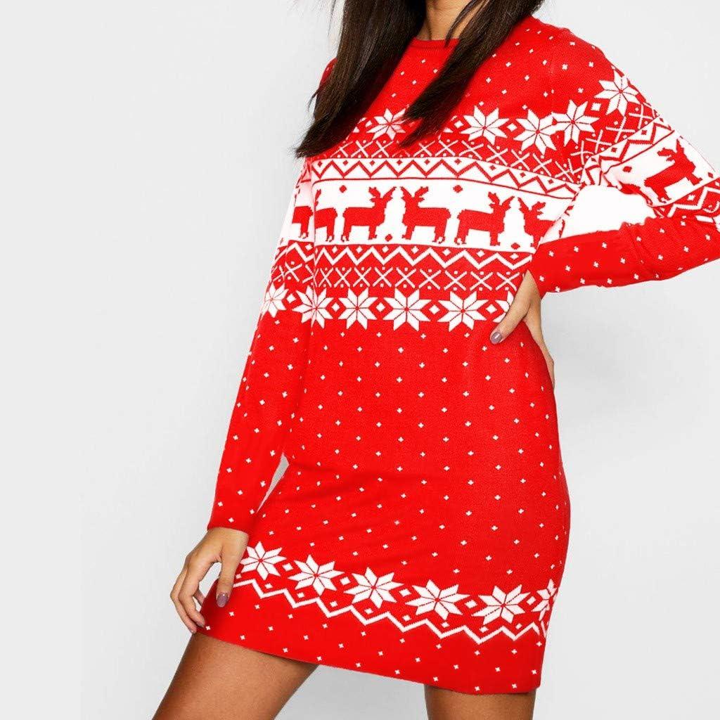 Dorical Weihnachtskleider Festliche Kleider Damen Schicke Weihnachten Monochrom Rentier Gedruckt Mit Kapuze Kordelzug Mini Mode Kleid
