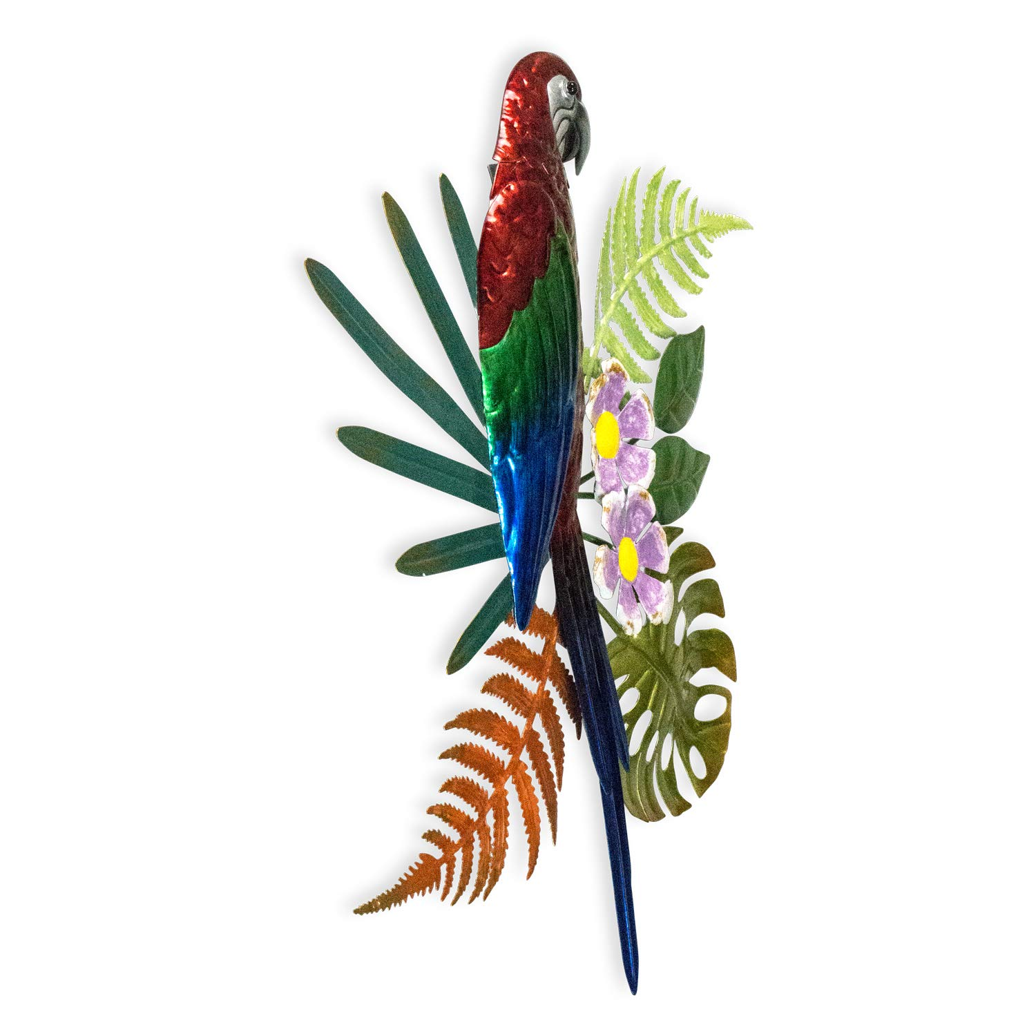 Bejeweled Display Parrot w// Glass Wall Art Plaque /& Home Decor