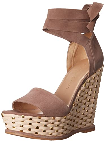baf2b5c410eb Amazon.com  Stuart Weitzman Women s Wrapsie Wedge Sandal  Shoes