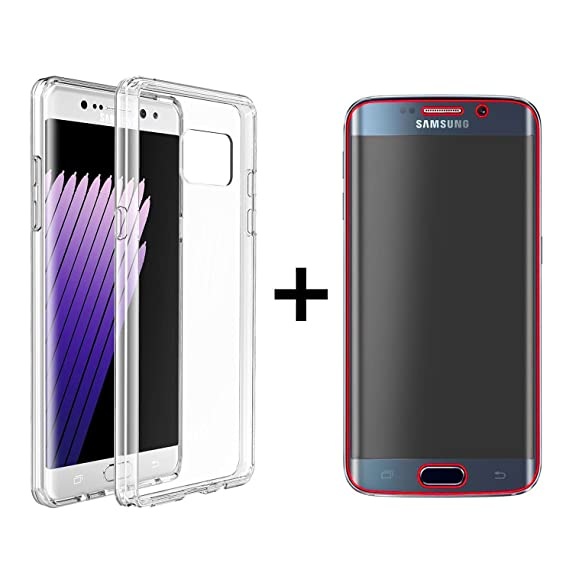 new arrival b6dbe 9979f Amazon.com: For Samsung Galaxy S6 Edge Full Body Cover Front Screen ...