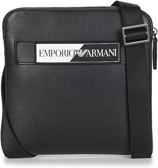 Emporio Armani OSLO Bolso pequeño/Cartera de mano hommes Negro - única - Bolso pequeño/Cartera: Amazon.es: Zapatos y complementos