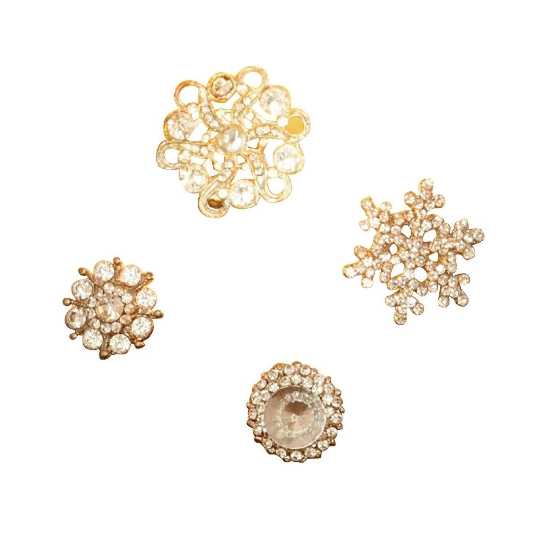 Loberon Lot de 4 d/écorations pins Brillliant Pins