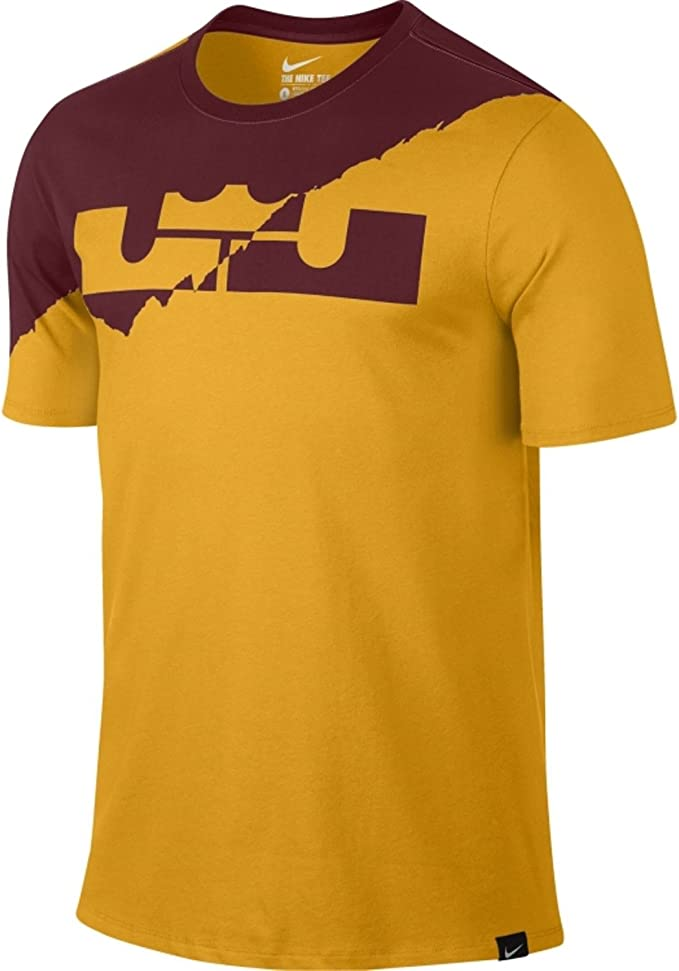 Nike – Camiseta de Hombre Lebron Split Corona gráfico Camiseta Baloncesto Universidad Oro, Dorado Universitario: Amazon.es: Deportes y aire libre