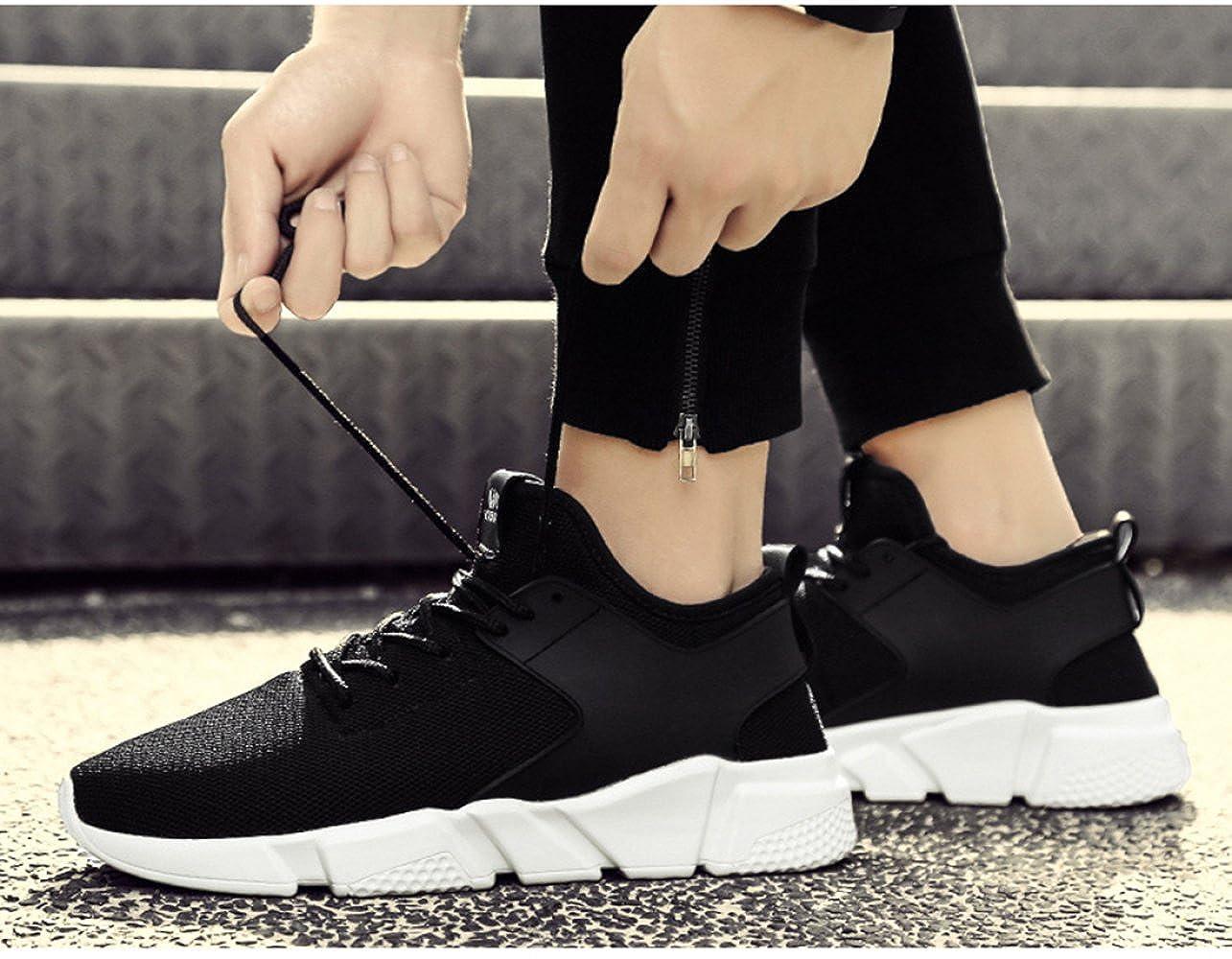 MYXUA Herren Atmungsaktiv Turnschuhe Mode Freizeitschuhe Laufschuhe Bequem Atmungsaktiv Herren Schwarz c0f62c