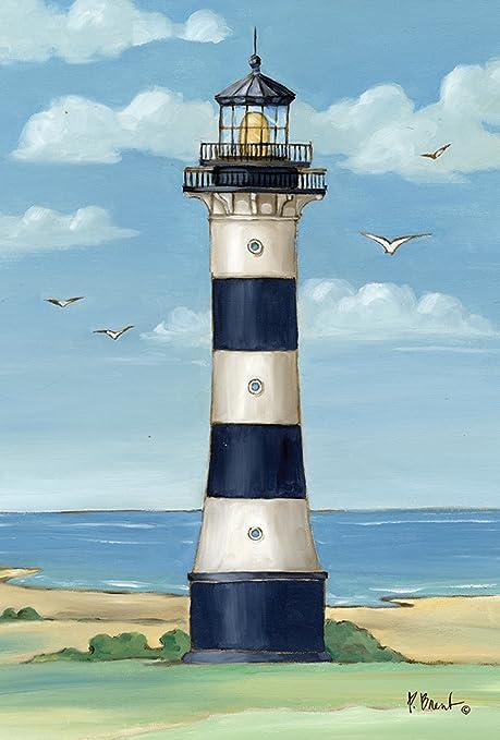 "Coastal Lighthouse Summer Garden Flag Shoreline Pier 12.5/"" x 18/"" Briarwood Lane"