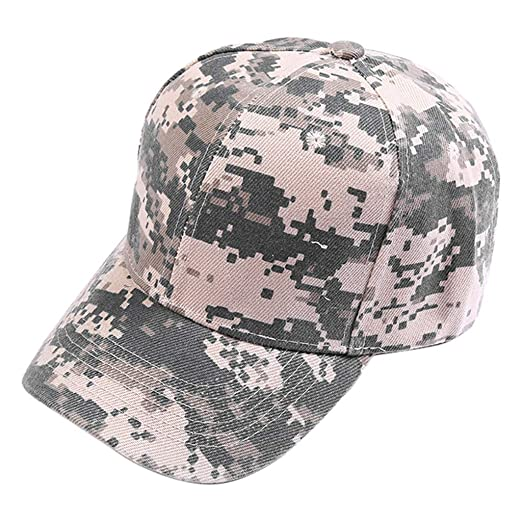 4f4778d5045 Unisex Outdoor Camouflage Hat Trucker Plain Baseball Visor Cap Women Men  Dad Hat Casual Sun Hat at Amazon Men s Clothing store