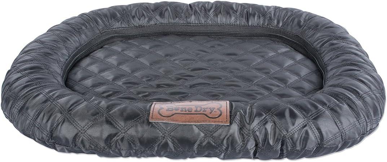 Bone Dry Border Cushion Padded Pet Mat Medium 20 X 28 Oval Quilted Black Mat Pet Supplies Amazon Com