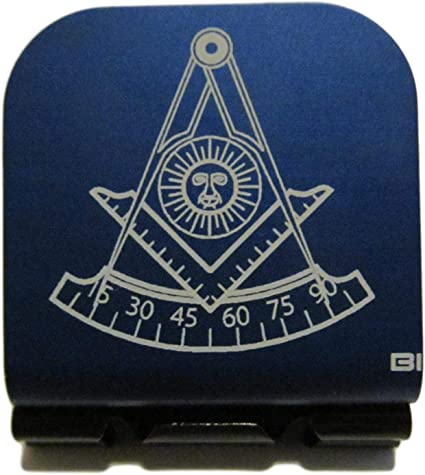 Mason Symbol Laser Etched Aluminum Hat Clip Brim-it