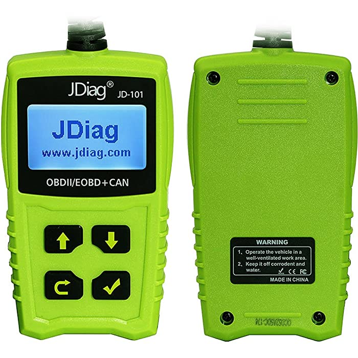 Unlike other OBD2 scan tool, you can disconnect the JDiag JD101 while the car is running.