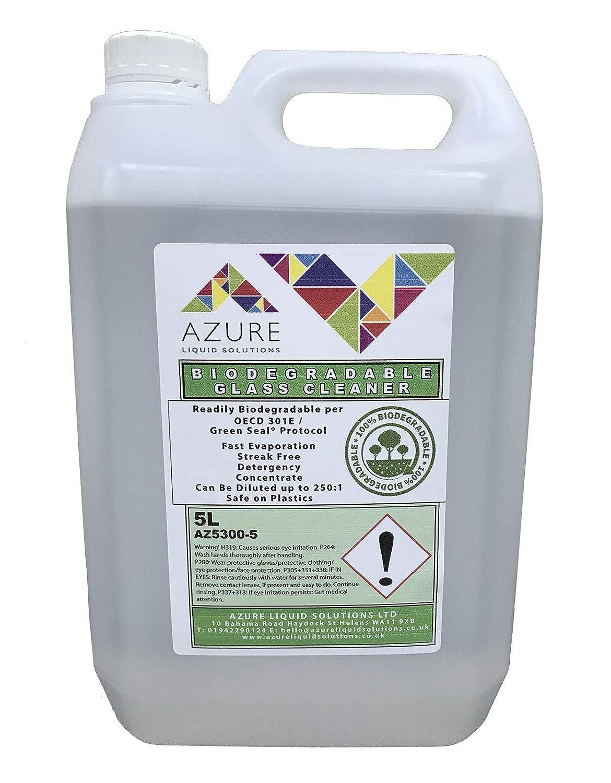 Azure - Limpiador de vidrio biodegradable sin manchas para el ...