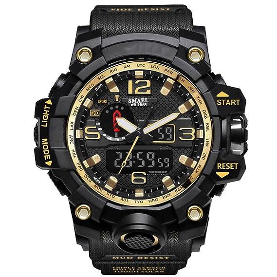 Reloj hombres Reloj Digital Impermeable Para Hombre Con Reloj Despertador Reloj Grande LED Deportivo Para Rostro