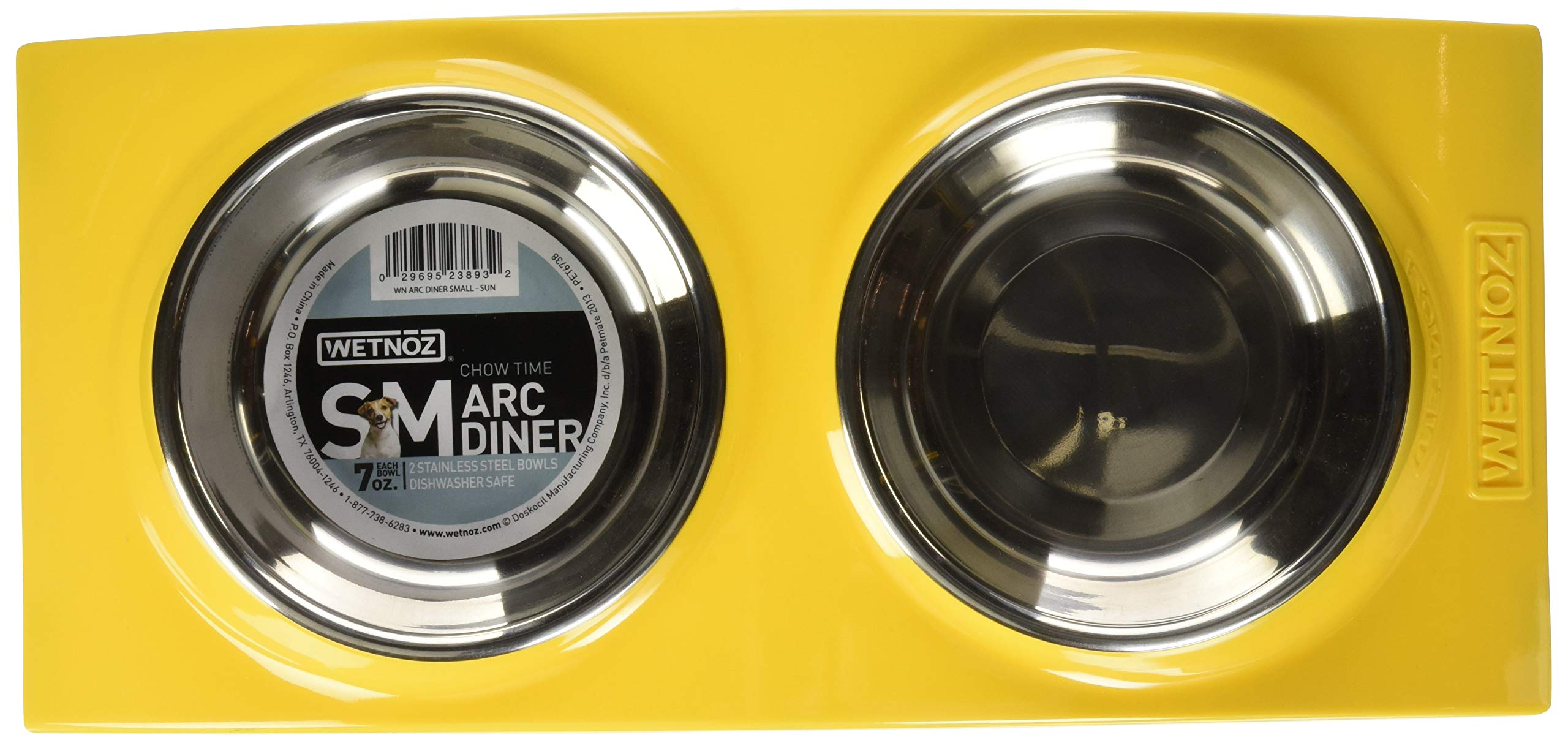 Wetnoz 23893 Arc Diner for Pets, Small, Sun by Petmate (Image #2)