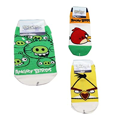 Angry Birds Assorted Character and Color Design Kids Socks (22-24cm, 2 Pairs)
