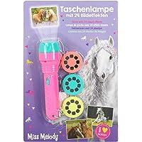Depesche 6102 Miss Melody - zaklamp met 24 beeldeffecten, handige lamp die paardenfoto's kan projecteren