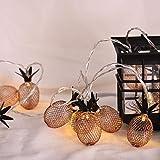 1 Set Worm White 20x LED Night Lights Rose Gold