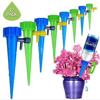 12x Einstellbar Bewässerungssystem Pflanzen Automatisch Bewässerung Tropf Sprink