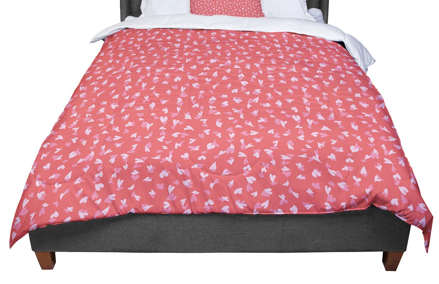 KESS InHouse Emma Frances Love Confetti King Cal King Comforter 104 X 88