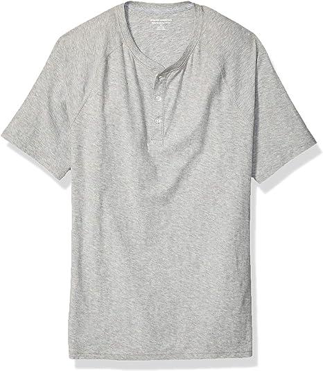 Essentials mens Big /& Tall Short-Sleeve Slub Henley T-Shirt Henley Shirt