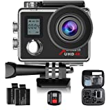 Campark ACT76 Action Cam WIFI Sports Camera Ultra HD Waterproof DV Camcorder SONY Sensor and 2 Pcs Rechargeable Batteries